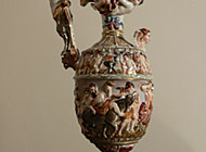 Capo di Monte Porcelain - Hand-painted Ewer