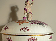 Meissen Porcelain - Hand-painted Covered Bowl