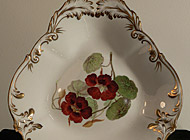 English Porcelain - hand-painted plates