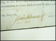 John Hancock - Signed Congressional Manuscript