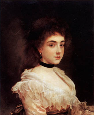 Fine Art Paintings: Gustave Jean Jacquet - Woman with a Velvet ...