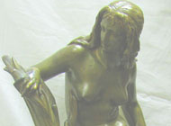 Albert-Ernest Carrier-Belleuse - Desc: Art Nouveau Bronze Nude