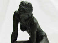 Thomas Holland - Desc: Bronze nude figural of a woman (brown patina)